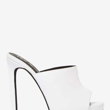 Jeffrey Campbell Robert's Leather Mule - White