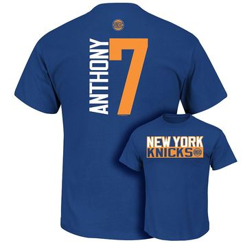 Majestic New York Knicks Carmelo Anthony Custom Tee - Big & Tall, Size: