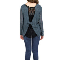Lori & Jane Lace Back Top/Gray | Mod Angel