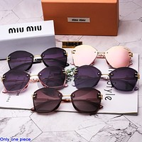 MIU MIU stylish men's and women's casual sunglasses are hot sellers of polygonal thickened hd sunglasses