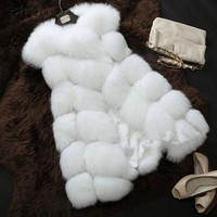 Fur Vest coat Luxury Faux