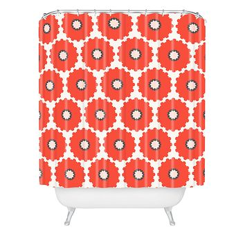 Holli Zollinger Coral Pop Shower Curtain