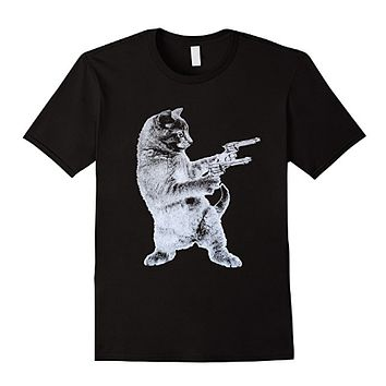 Gun Kitty - Cat T-Shirt- Cat Lover- Funny Gun T shirt