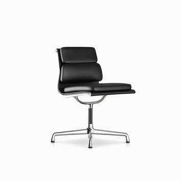 Leather Padded Eames Lounge Chair by EAG