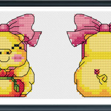 Funny Cross Stitch  Pattern, Funny Pig Cross Stitch Pattern, Counted Cross Stitch