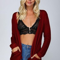 Shimmer Me Softly Open Front Cardigan
