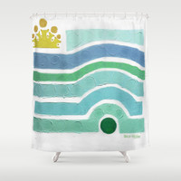 :: Princess n' Pea (Mint) Shower Curtain by GaleStorm Artworks