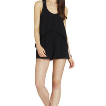 Front Overlay Romper in Red - BCBGeneration