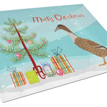 Dutch Hook Bill Duck Christmas Glass Cutting Board Large BB9228LCB