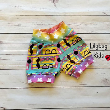 18-24 months star shorts, girl summer shorts, hipster shorts, mustache shorts, bow tie shorts, camera with stripes, girl cuff shorts
