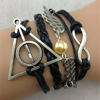 1 pc Love Vintage Harry Potter theme bracelet Jewelry DS03400 = 1946912004