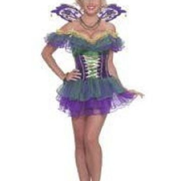Mardi Gras Fairy Costume For Adults ONE SIZE FITS UP TO A SIZE 14/16