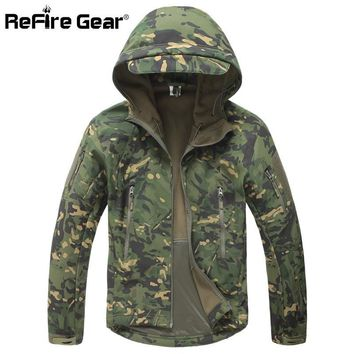 Trendy Lurker Shark Soft Shell Military Tactical Jacket Men Waterproof Warm Windbreaker Coat Camouflage Hooded Jacket US Army Clothing AT_94_13