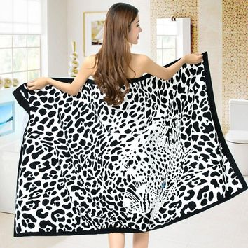 Leopard beach towel Sexy bath towel Microfiber Towel big size 100*180cm toalha de banho summer Swimwear dolphin Shower towel