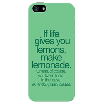 When Life Gives You Lemons Funny Quote iPhone 5 / 5S Case