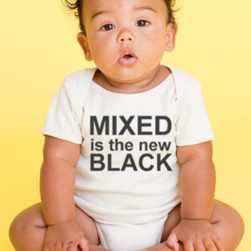 Mixed is the New Black Onesuit for Babies, Organic Infant One Piece, Made in the USA, American Apparel