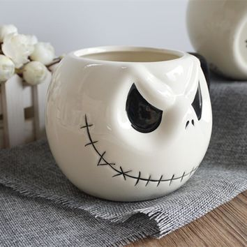 "New Arrival Perfect Jack Skellington Mug, ""The Nightmare Before Christmas""  Cartoon Coffee Mug Tea Cup for friends gift"