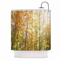 "Sylvia Coomes ""Autumn Trees 2"" Orange Yellow Shower Curtain"