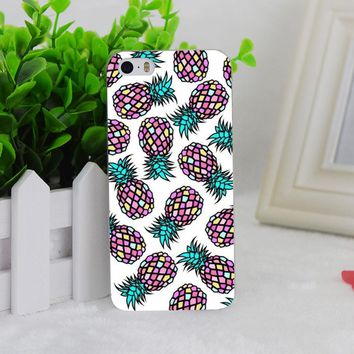 A0724 Pineapple Tumblr Background Transparent Hard Thin Case Cover For Apple iPhone 4 4S 5 5S SE 5C 6 6S 6Plus 6s Plus