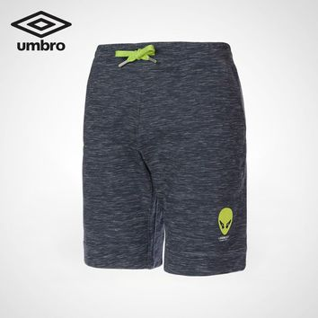 UMBRO 2018 Summer New Pattern Male Alien Football Series Short Pants Elasticity Men Shorts Quick Dry UI183AP2705