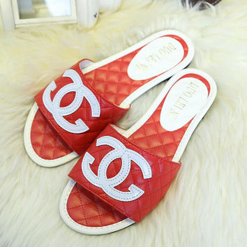 Chanel Casual Fashion Women Sandal Slipper flat Shoes