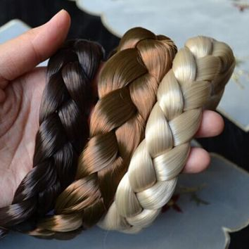 Wigs braid thick wide headband