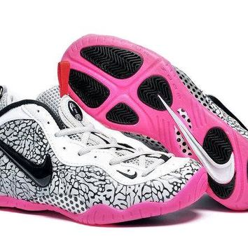 Jacklish Girls Nike Air Foamposite Pro Elephant Print For Sale
