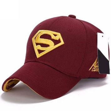 Superman Pattern Snapback Fit Tennis Cap Hat Unisex Baseball Cap Superman Pattern