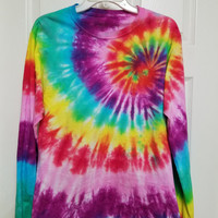 Colorful Custom Tie-Dyed Long Sleeve T-Shirt