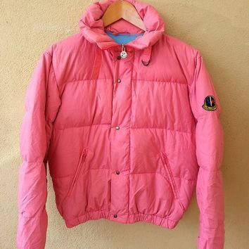 authentic moncler pink asics puffer ski wear gore tex sweater jacket  number 1