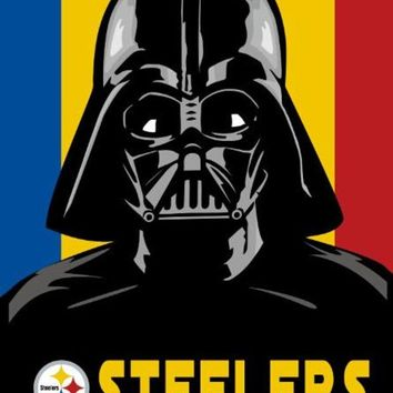 DCCKH6B Pittsburgh Steelers skull wars flag by digital printing 3x5 with grommets