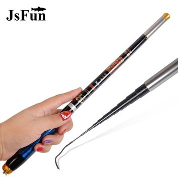 JSFUN Superstrong Carp Fishing Rods High Carbon Fiber Telescopic Hand Pole 3.6M 4.5M 5.4M Stream Fishing Rods YG12