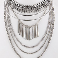 Layered Collar Chained Necklace- FINAL SALE