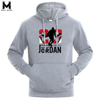 2018 Autumn New Arrival High JORDAN 23  Printed Sportswear Men Sweatshirt Hip-Hop Male Hooded Hoodies Pullover Hoody clothing