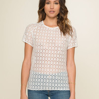 Tommy Lace Tee- Blossom