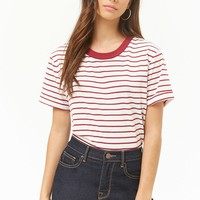 Striped Boxy Cuffed Tee