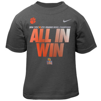 Nike Clemson Tigers 2014 Orange Bowl Champions Toddler Locker Room T-Shirt - Anthracite - http://www.shareasale.com/m-pr.cfm?merchantID=7124&userID=1042934&productID=555854472 / Clemson Tigers