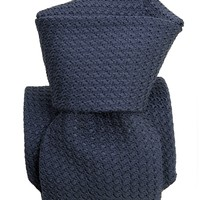 Ducale-Grenadine Grossa Silk Tie-Navy Blue
