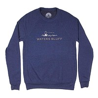 Small Town USA Reggie Sweatshirt in Navy Triblend by Waters Bluff