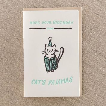 Cat's Pajamas Birthday Card