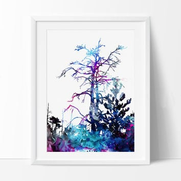 Forest Watercolor Painting, Watercolor Art, Forest Painting, Watercolor Art Print, Abstract Watercolor, Forest Gift Poster (97)