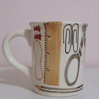 Novelty Hand Painted Office Supplies Ceramic XL Coffee Mug