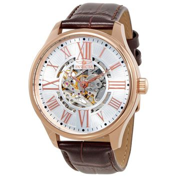 Invicta Vintage Objet D Art Automatic Silver Dial Mens Watch 22569