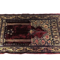 Persian Prayer Rug Italy Vintage