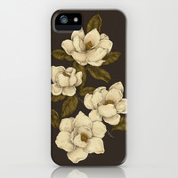 Magnolias iPhone & iPod Case by Jessica Roux