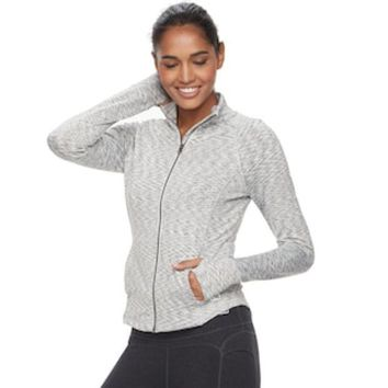 MDIGPL3 Women's FILA SPORT® Heathered Running Jacket | null