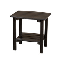 Michael Anthony Furniture Gaea Black Poly Lumber Outdoor Side Table