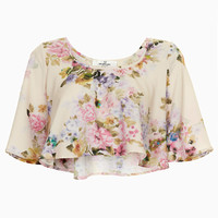 **FLORAL FLOATY CROP TOP BY OH MY LOVE
