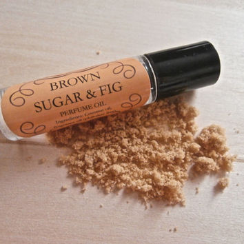 Brown Sugar & Fig Perfume Oil. Phthalate Free. Luxe Artisan Apothecary. Fig and Caramelized Brown Sugar with Sandalwood and Vanilla. 10 ml.