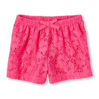 Toddler Girls Lace Knit Culotte Shorts | The Children's Place